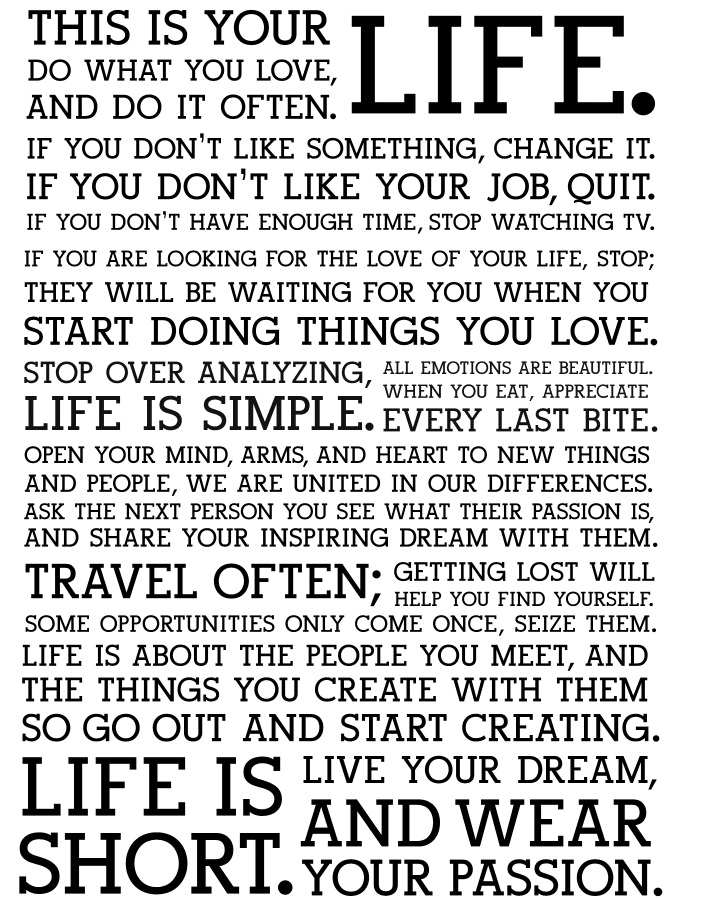 Holstee's Manifesto of Motivation