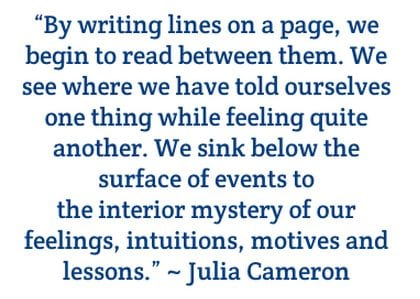 julia cameron quote about writing