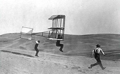 wright brothers flying first airplane