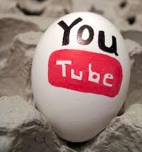 egg painted with youtube logo