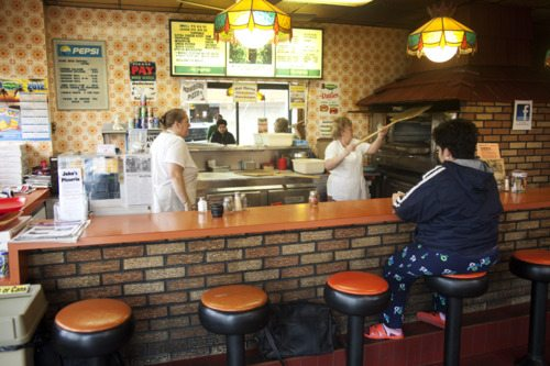 pizza shop interior