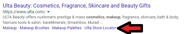 Ulta Beauty Make Up Black Friday PPC Example
