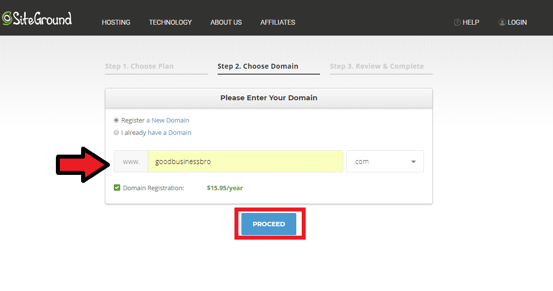 Registering a Domain with Siteground to Start Your Blog