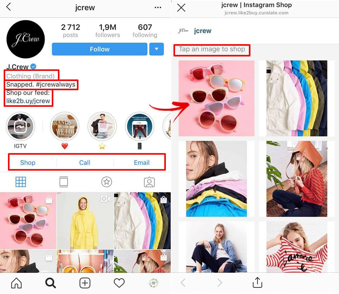 Using space in your instagram bio to drive sales