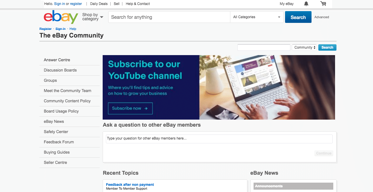eBay Community Forum