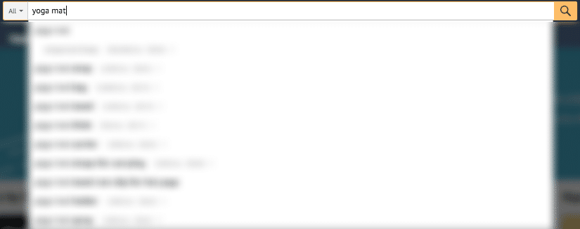 Type Search Term in Amazon Search Bar
