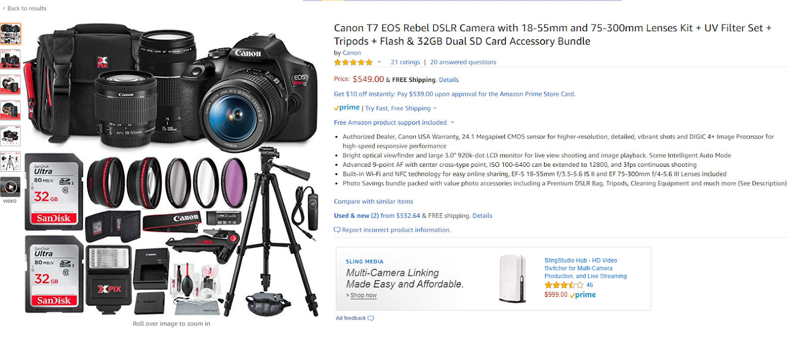 Amazon photography camera kit