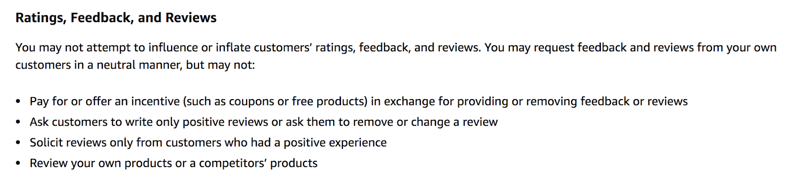Amazons Review Policy
