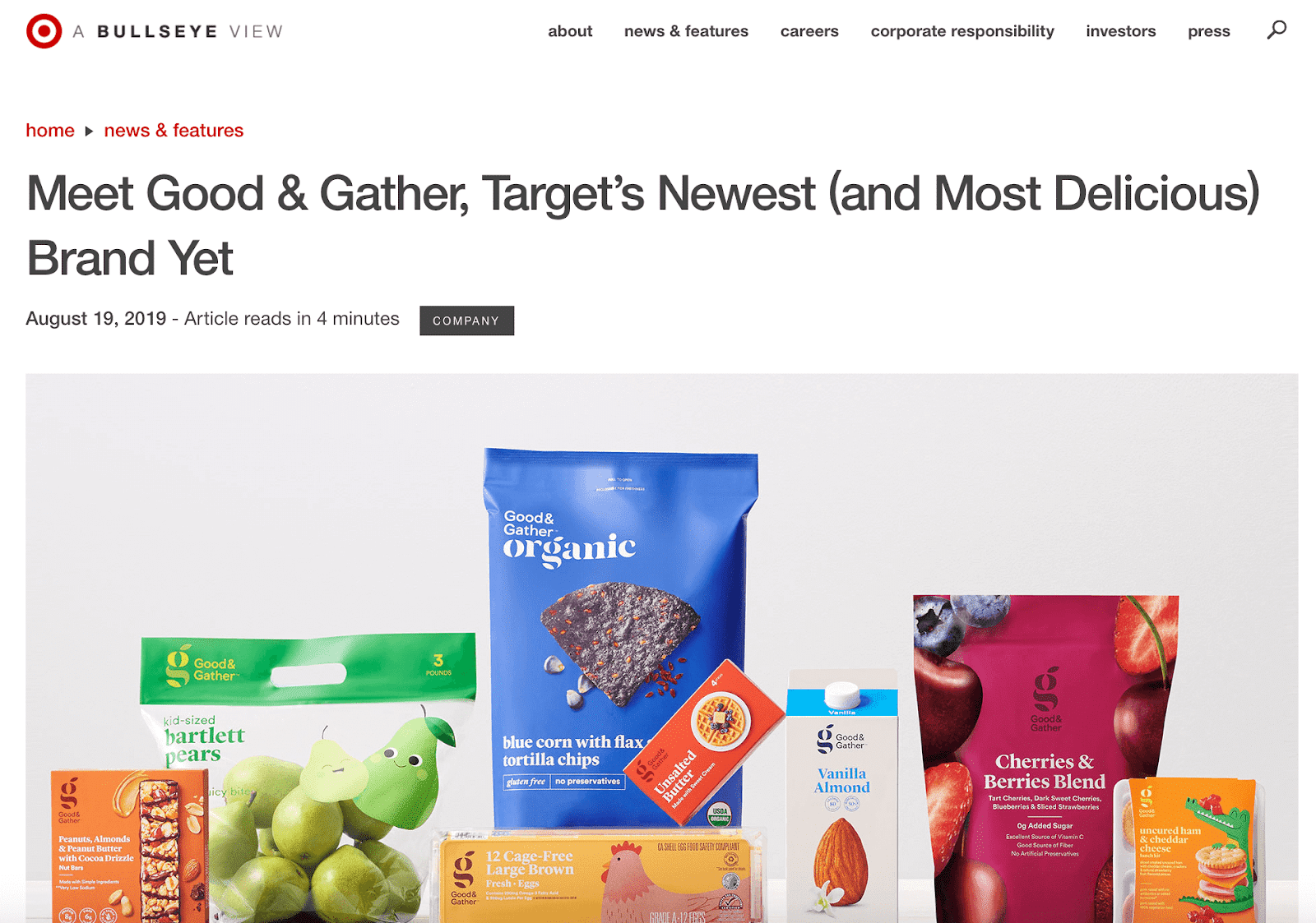 Targets Private Label Brand Good Gather