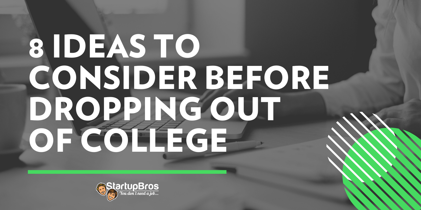 8 ideas to consider before dropping out of college - social image